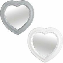 Spiegel HEART Wandspiegel Hängespiegel Türspiegel Herz Rahmenspiegel NEU (Grau)