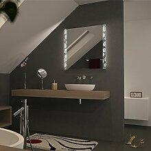 Spiegel hinterleuchtet mit zwei Streifen Rosemary - B 700mm x H 1100mm - warmweiss