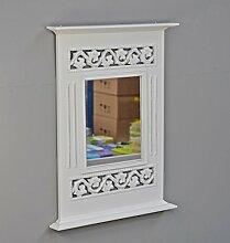 Spiegel Holzrahmen antik weiß Landhaus Wandspiegel Holz Rosali Badspiegel shabby