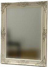 Spiegel Holzspiegel Dekospiegel Wandspiegel Facette Landhaus antik creme