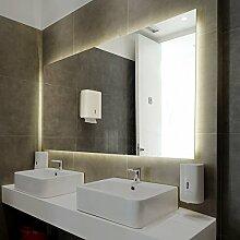 Spiegel ID Piceno Design - LED BADSPIEGEL mit Beleuchtung - Made in Germany - individuell nach Maß auswählen - Auswahl: (Breite) 100 cm - (Höhe) 60 cm