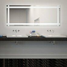 Spiegel ID Viola Design - LED BADSPIEGEL mit Beleuchtung - Made in Germany individuell nach Maß auswählen - Auswahl: (Breite) 170 cm - (Höhe) 40 cm