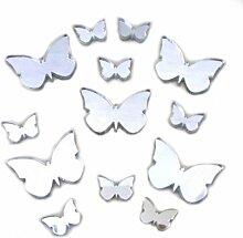 Spiegel in Schmetterlingsform, 20 cm, 3 x 1,5 cm