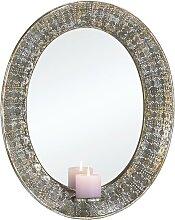 Spiegel in Silber antik ca. 43/5,5/54 cm