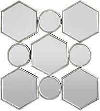Spiegel in Silber antik ca. 88/85,5/6,5 cm