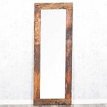 Spiegel INDO 160x60cm Natural Erosi Massivholzrahmen Recycled Wood Wandspiegel