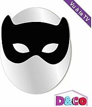 Spiegel Kinder: Kleine Katzen-Maske schwarz