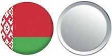 Spiegel Knopfabzeichen Flagge Fahne Belarus - 58mm