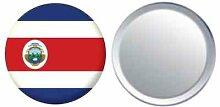 Spiegel Knopfabzeichen Flagge Fahne Costa Rica - 58mm