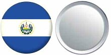 Spiegel Knopfabzeichen Flagge Fahne El Salvador - 58mm