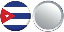 Spiegel Knopfabzeichen Flagge Fahne Kuba - 58mm