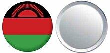 Spiegel Knopfabzeichen Flagge Fahne Malawi - 58mm