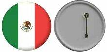 Spiegel Knopfabzeichen Flagge Fahne Mexiko - 58mm