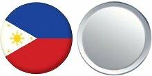 Spiegel Knopfabzeichen Flagge Fahne Philippinen - 58mm