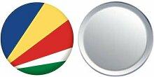 Spiegel Knopfabzeichen Flagge Fahne Seychellen - 58mm
