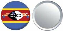 Spiegel Knopfabzeichen Flagge Fahne Swasiland - 58mm