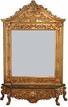 Spiegel Konsole Barock Löwe gold