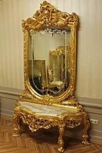 Spiegel Konsole Barock mit Marmor-Platte beige