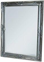 SPIEGEL Leandos 90 x 70cm ANTIK SILBER WANDSPIEGEL DESIGN MIRROR POMPÖS & BAROCK