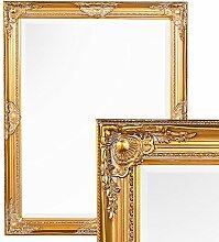 Spiegel LEANDOS 90x70cm antik gold Wandspiegel Design MIRROR pompös & barock