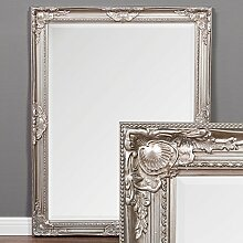 Spiegel LEANDOS 90x70cm antik silber Wandspiegel Design MIRROR pompös & barock