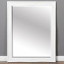 Spiegel LEANDOS 90x70cm weiß Wandspiegel Design MIRROR pompös barock