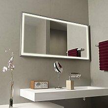 Spiegel LED mit Alurahmen Frame - B 800mm x H 600mm - warmweiss