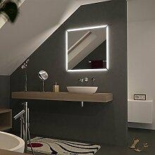 Spiegel LED mit Motiv Performa - B 500mm x H 700mm - neutralweiss