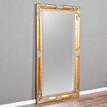 Spiegel MARLON-XL Gold 180x100cm Wandspiegel pompös barock Holzrahmen Facette