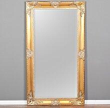Spiegel MARLON-XXL Gold 200x110cm Wandspiegel pompös barock Holzrahmen Facette