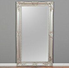 Spiegel MARLON XXL Silber 200x110cm Wandspiegel pompös barock Holzrahmen Facette