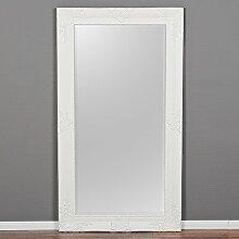 Spiegel MARLON-XXL Weiss-Pur 200x110cm Wandspiegel barock Holzrahmen Facette