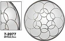 Spiegel Metall Silber 70x 2,5cm