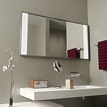 Spiegel mit Aluminiumrahmen Miro - B 1500mm x H 800mm - warmweiss