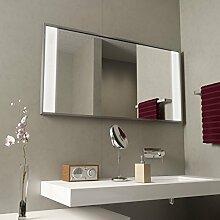 Spiegel mit Aluminiumrahmen Miro - B 700mm x H 1000mm - warmweiss