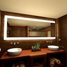 Spiegel mit Beleuchtung Mephisto - B 600mm x H 400mm - warmweiss
