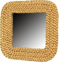 Spiegel mit geflochtenem Rahmen von Adrien Audoux