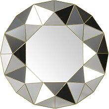 Spiegel mit geometrischen Reliefmotiven D60