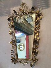 Spiegel mit Goldenem Metallrahmen, 1940er