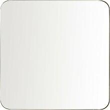 Spiegel mit goldfarbenem Metallrahmen, 110x110