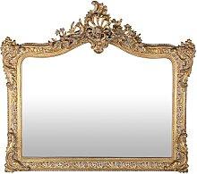 Spiegel mit goldfarbenem Zierrahmen 114x100
