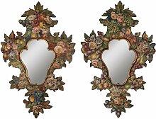 Spiegel mit Handbemalten Vintage Rahmen aus 19.