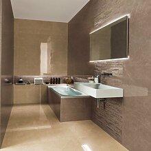 Spiegel mit Hinterleuchtung Quga - B 600mm x H 400mm - warmweiss