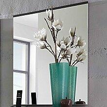 Spiegel mit Holzoberkante in grau, Breite 65 cm,