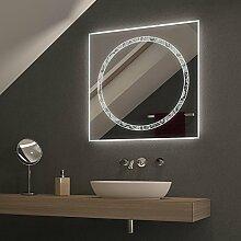 Spiegel mit Kreisform Rondodoro - B 1100mm x H 700mm - neutralweiss