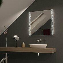 Spiegel mit LED-Beleuchtung Arosa - B 600mm x H 900mm - warmweiss
