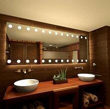 Spiegel mit LED-Beleuchtung Sight - B 600mm x H 400mm - warmweiss