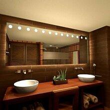 Spiegel mit LED Ralia - B 600mm x H 400mm - neutralweiss