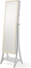 Spiegel mit LED, weiß