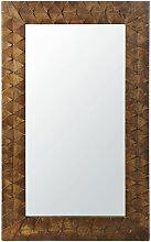 Spiegel mit Rahmen aus geschnitztem Mangoholz